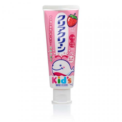 Детская зубная паста со вкусом клубники Clear Clean 70g