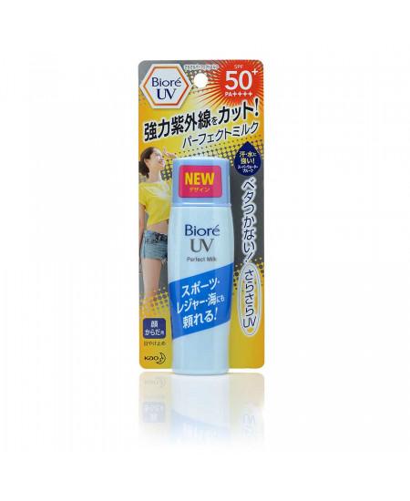Солнцезащитное молочко с подсушивающей пудрой Biore UV Perfect Milk SPF50, 40ml - фотография №1