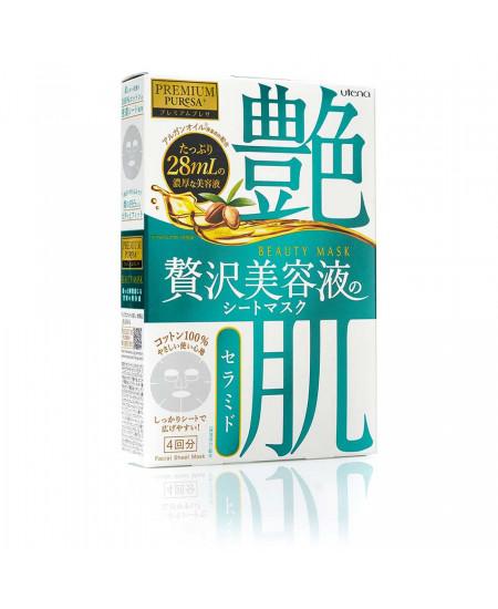 Маска с керамидами для сухой и нормальной кожи лица Utena Premium 4 шт - фотография №1