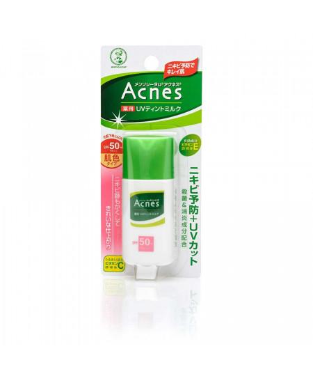 Солнцезащитное молочко для проблемной кожи Acnes Mentholatum SPF50+ 30g - фотография №1